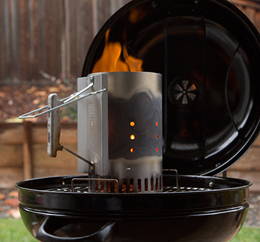 charcoal grill with chimney