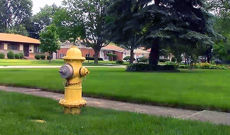 water leak detection sensors in fire hydrants