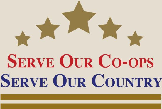 Serve our co-op serve our country logo