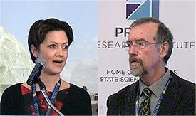 Speakers John Bradburn and Kim Frankovich.