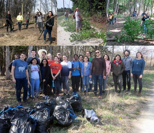 South Arboretum Woods volunteers
