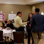 ISTC Director Kevin OBrien chats with conference attendees Yu Feng-Lin (ISGS) and Dr. Xuefei Zhou (Tongji University, China)