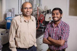 B.K. Sharma - senior research engineer, Illinois Sustainable Technology Center (left) and Sriraam R. Chandrasekaran, lead research engineer. Photo by L. Brian Stauffer