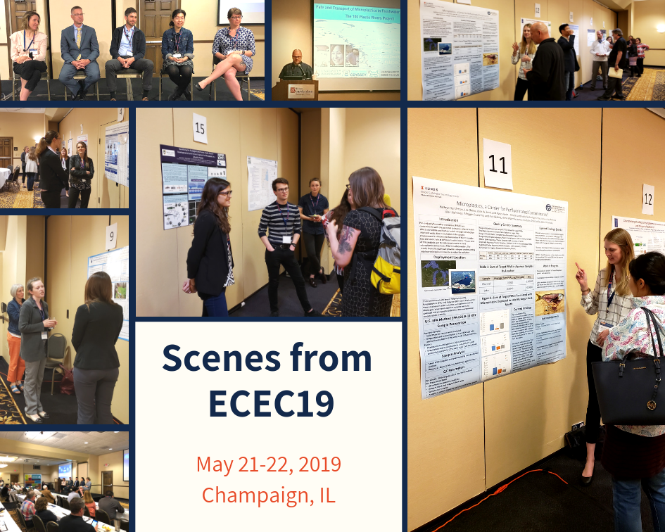 Scenes from the 2019 Emerging Contaminants in the Environment Conference
