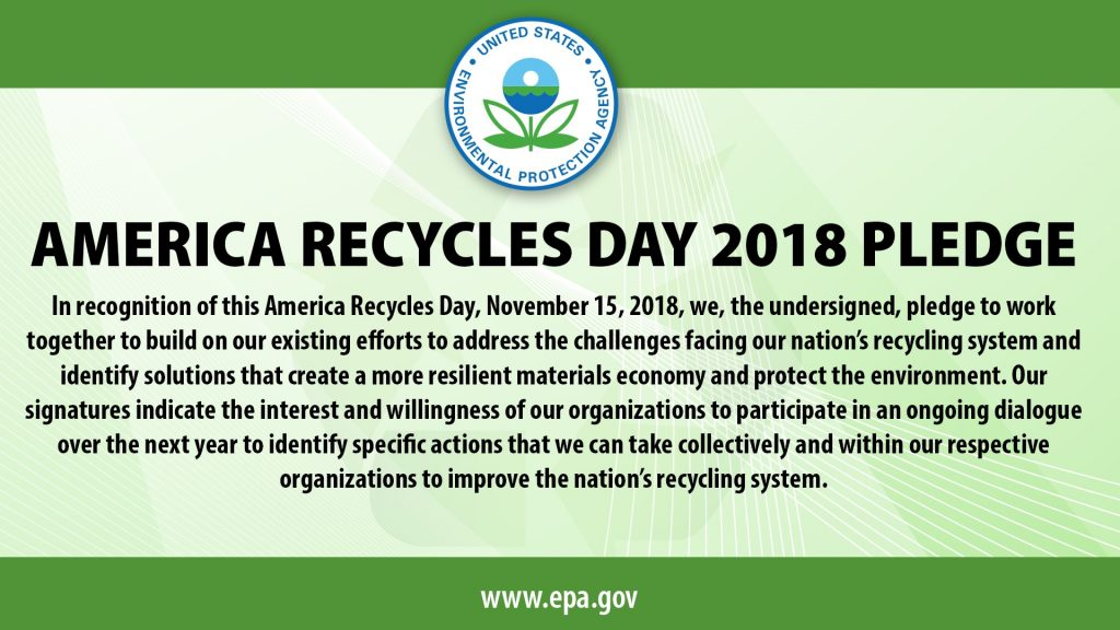 graphic version of the America Recycles Pledge