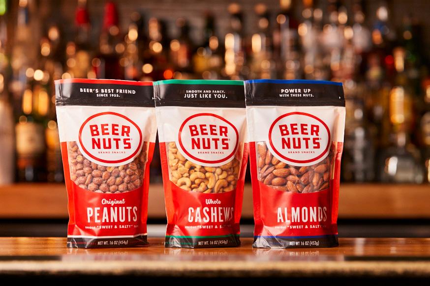 Packages of BEER NUTS