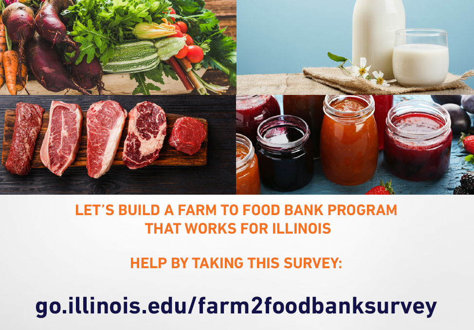 Graphic encouraging IL farmers to complete an online survey by March 30, 2021